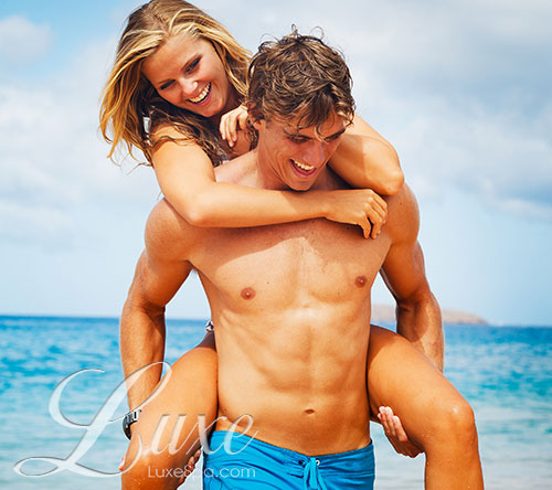 Picture of Man and Woman on the beach - Mens Brazillian