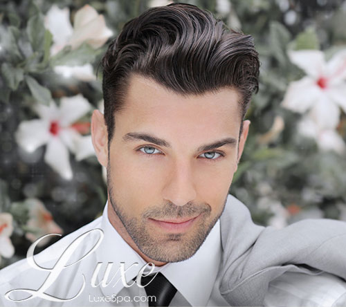 Male model with perfect hair style, Mens Services at Luxe Spa